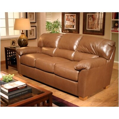 Omnia Furniture Cedar Heights Leather Sofa