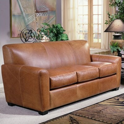 Jackson Leather Sleeper Sofa by Omnia Furniture