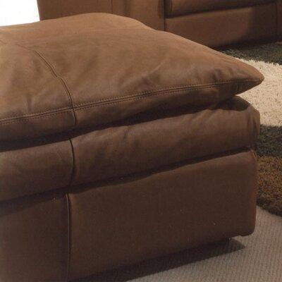 Omnia Furniture Oregon Leather Jumbo Ottoman