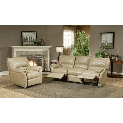 Mandalay Leather Reclining Sofa by Omnia Furniture