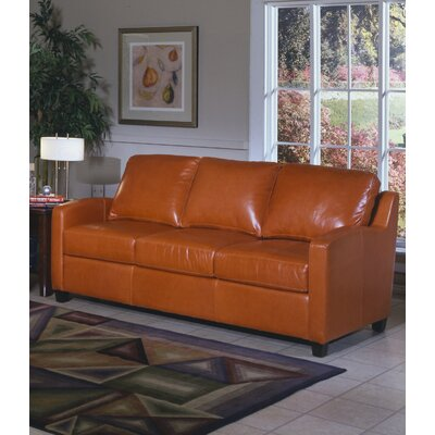 Chelsea Deco Leather Loveseat by Omnia Furniture