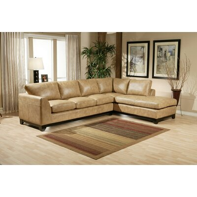 omnia furniture city sleek leather sectional