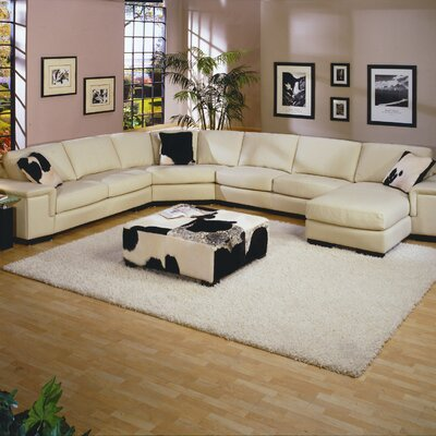 Mercedes Leather Sectional by Omnia Furniture