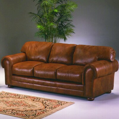 Winchester Marquee Leather Convertible Sofa by Omnia Furniture
