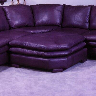 Fargo Leather Ottoman by Omnia Furniture