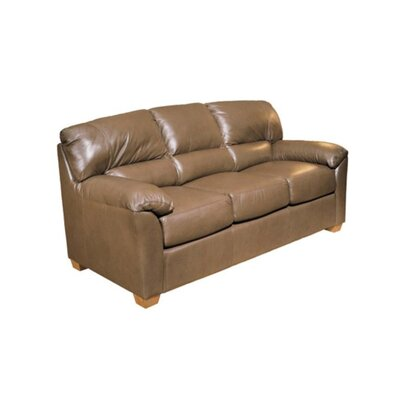 Cedar Heights Leather Sleeper Sofa by Omnia Furniture