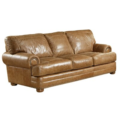 Houston Leather Sofa by Omnia Furniture