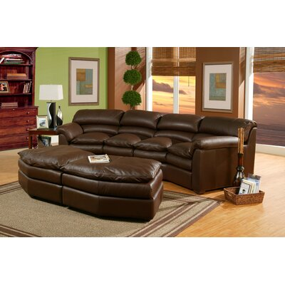 Canyon Custom Leather Sectional by Omnia Furniture