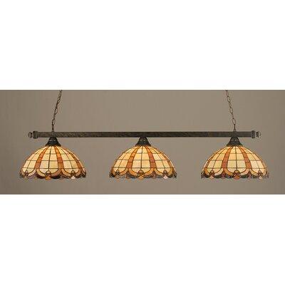 3 Light Billiard Light by Toltec Lighting