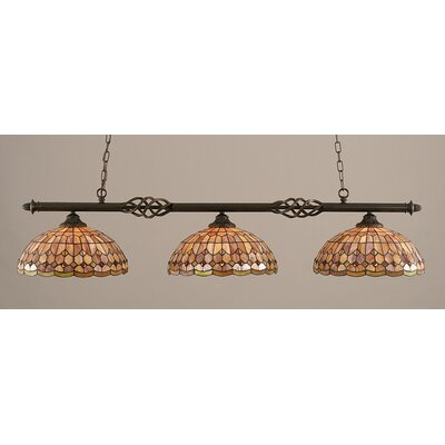 Elegante 3 Light Billiard Light by Toltec Lighting