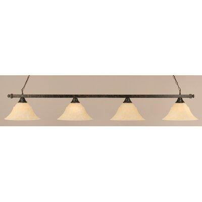 4 Light Billiard Light by Toltec Lighting
