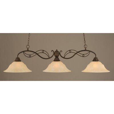 Jazz 3 Light Billiard Light by Toltec Lighting