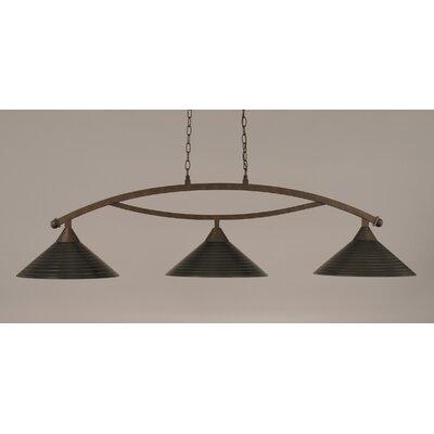Bow 3 Light Billiard Light by Toltec Lighting