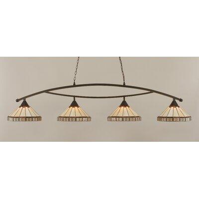 Toltec Lighting Bow 4 Light Kitchen Island Pendant