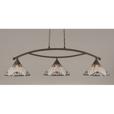Bow 3 Light Kitchen Island Pendant Product Photo