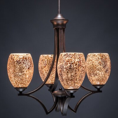Zilo 4 Light Chandelier Product Photo