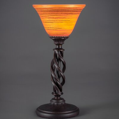 """Toltec Lighting Elegante Mini 14"""" H Table Lamp with Bell Shade"""