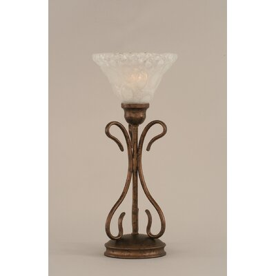 """Toltec Lighting Swan 16.75"""" H Table Lamp with Bell Shade"""
