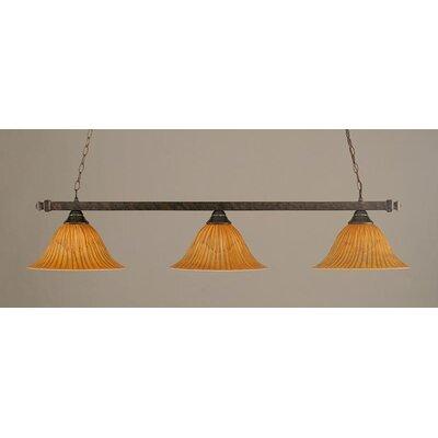 Toltec Lighting 3 Light Kitchen Island Pendant