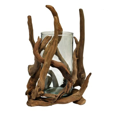 Driftwood Cylinder Glass Decorative Bowl by Eangee Home Design