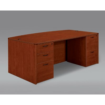 DMI Office Furniture Fairplex Bow Front Executive Desk