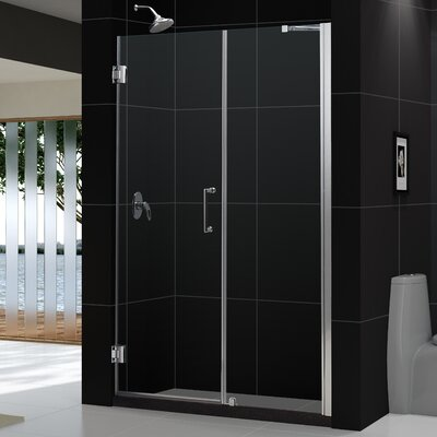 "UniDoor 72"" x 59"" Pivot Frameless Hinged Shower Door Product Photo"