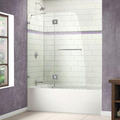 "AquaLux 58"" x 48"" Pivot Frameless Hinged Tub Door Product Photo"