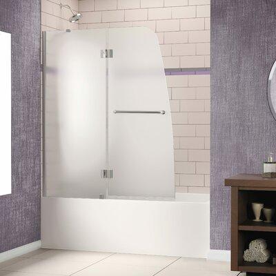 "Aqua 58"" x 48"" Pivot Frameless Hinged Tub Door Product Photo"