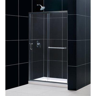 """Infinity-Z 74.75"""" x 48"""" Sliding Frameless Shower Door Product Photo"""