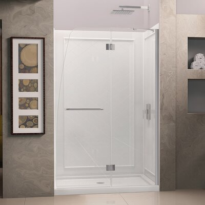 "Aqua 72"" x 45.88"" Pivot Hinged Shower Door with Hardware Product Photo"