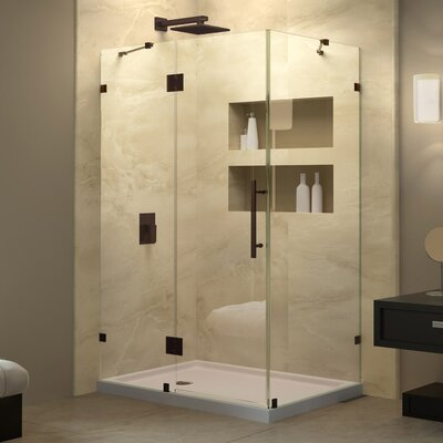 QuatraLux 34-5/16 in. W x 34-5/16 in. D x 72 in. H Hinged Shower Enclosure with Hardware Product Photo