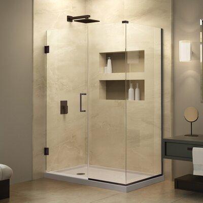 "Unidoor Plus 34"" W x 29"" D Hinged Shower Enclosure Product Photo"