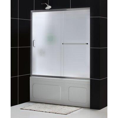 "Infinity-Z 60"" x 60"" Sliding Frameless Tub Door Product Photo"