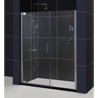 "Elegance 72"" x 58.25"" Pivot Frameless Shower Door Product Photo"