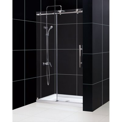 "Enigma-X 76"" x 48"" Sliding Fully Frameless Shower Door Product Photo"