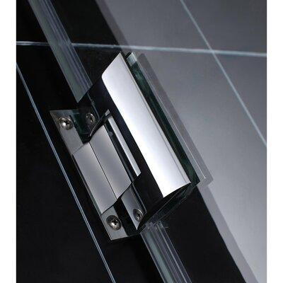 """UniDoor Lux 72"""" x 40"""" Pivot Frameless Hinged Shower Door Product Photo"""