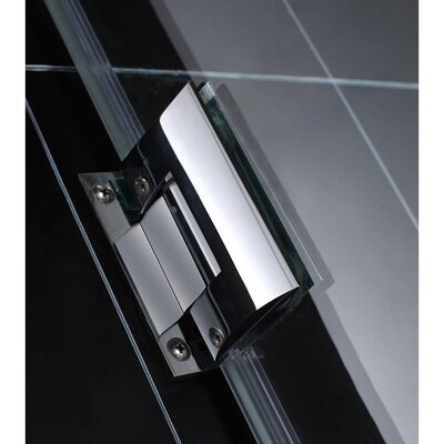 "UniDoor Lux 72"" x 43"" Pivot Frameless Hinged Shower Door Product Photo"