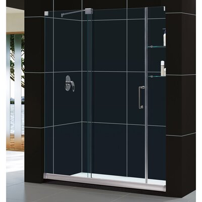 "Mirage 72"" x 44"" Sliding Frameless Shower Door Product Photo"