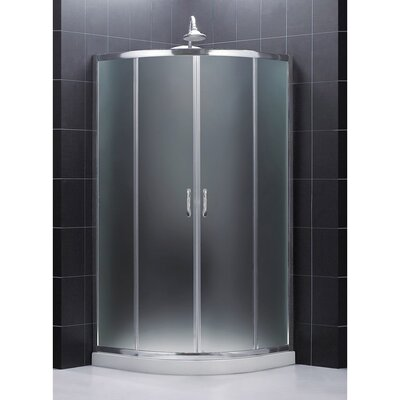 "Prime 36"" x 36"" Frameless Sliding Shower Enclosure Product Photo"