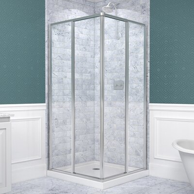 Conerview Framed Shower Enclosure and Shower Base Product Photo