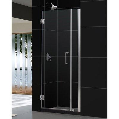"""UniDoor 72"""" x 34"""" Pivot Frameless Hinged Shower Door Product Photo"""