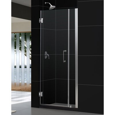"UniDoor 72"" x 35"" Pivot Frameless Hinged Shower Door Product Photo"