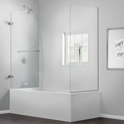 "Aqua Uno 58"" x 60"" Pivot Hinged Tub Door with Hardware Product Photo"
