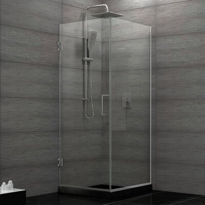 Unidoor Plus 30-3/8 in. W x 30 in. D x 72 in. H Hinged Shower Enclosure with Hardware Product Photo