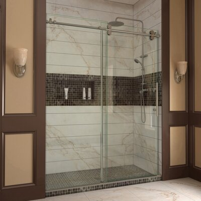 "Enigma 79"" x 60"" Sliding Fully Frameless Shower Door Product Photo"