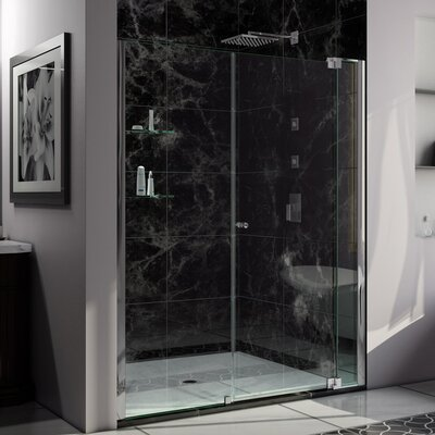 "Allure 73"" x 67"" Pivot Frameless Shower Door Product Photo"