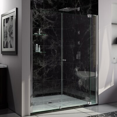 "Allure 73"" x 61"" Pivot Frameless Shower Door Product Photo"