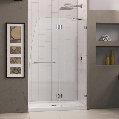 "AquaLux 72"" x 45.5"" Pivot Frameless Hinged Shower Product Photo"
