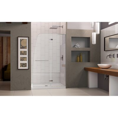 "Aqua Ultra 72"" x 45"" Pivot Frameless Hinged Shower Door Product Photo"