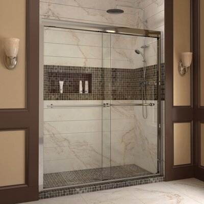 "Duet 72"" x 60"" Sliding Frameless Shower Product Photo"